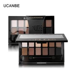 12 Colors Earth Color Makeup Eye Shadow Palette with Brush