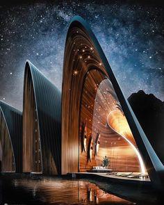 Architecture Unique, Futuristic Architecture, Interior Architecture, Rendering Architecture, Architecture Visualization, Chinese Architecture, Villa Design, House Design, Loft Design
