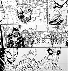 WEB WARRIORS. Pencils: David Baldeon, Inks: Walden Wong Sub me on www.youtube.com/WaldenWongArt . #marvel #marvelcomics #anime #manga #sketch #inker #comics #spiderman #spiderverse #illustration #arts #artwork #micron #spiderham #comics #artworks #MCU #artwork #art #artist #draw #drawing #illustrate #arte #inking #inks #spidergwen #picoftheday #spiderham #doodleart #drawingoftheday #drawdrawdraw Comic Art, Comic Books, Marvel Comics Art, Spider Gwen, Spider Verse, Doodle Art, Warriors, Spiderman, Artworks