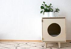 Katzenmöbel - DIY Katzenklo - Design für die Katze - Möbel zum selber bauen