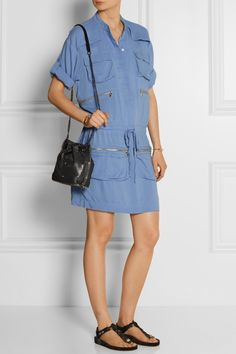 Paul & Joe | Mini-robe en chambray lavé Marsiac | NET-A-PORTER.COM