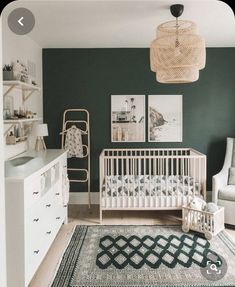 Are you GREEN with envy over this delightful room? We saw so much green . - Baby Schlafzimmer - Are you GREEN with envy over this delightful room? We saw so much green … # - Baby Room Boy, Girl Room, Baby Room Green, Green Nursery Girl, Light Green Nursery, Baby Room Colors, Green Boys Room, Ikea Baby Room, Boy Nursery Colors