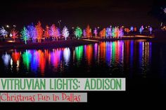 Vitruvian Lights   Addison, Texas   Christmas in Addison   Addison Lights   Vitruvian Park, Addison   Christmas Activities in Dallas   What to do in Dallas   Christmas in Dallas   Family fun in Dallas   Family Christmas Activities in Dallas