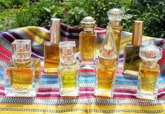 Perfumes composed during the course by one of our students Perfume Making, Students