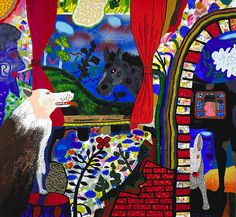 The Real Inside Story, Roy De Forest, 1973, acrylic on canvas, 66 x 72 1/8 in. (167.5 x 183.2 cm.), Smithsonian American Art Museum, Gift of the Sara Roby Foundation,1986.6.89