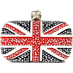 ALEXANDER MCQUEEN Union Jack Skull box clutch (Red/white/blue  (if only i had a grand to spare!)