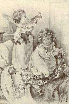 Vintage christmas children ¸.•♥•.  www.pinterest.com/WhoLoves/Christmas  ¸.•♥•.¸¸¸ツ #Christmas