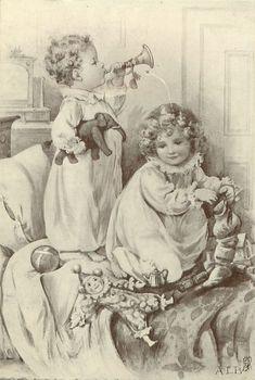 Vintage christmas children ¸.•♥•. www.pinterest.com/WhoLoves/Christmas ¸.•♥•.¸¸¸ツ #Christmas