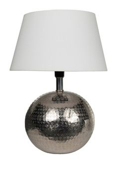 Crosby Table Lamp - Silver/White