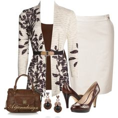 """NIC+ZOE Casrdigan"" by arjanadesign on Polyvore"