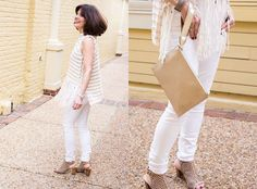 We are dying over this look full of fringe and crochet!