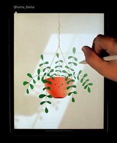 Pencil Art Drawings, Cute Drawings, Happy Paintings, Digital Art Tutorial, Illustrations, Art Tutorials, Diy Art, Digital Illustration, Amazing Art