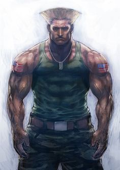 guile (street fighter) drawn by boyaking - Danbooru Street Fighter Guile, Super Street Fighter, Game Character, Character Design, Street Fighter Characters, World Of Warriors, Baggy Pants, Manga Characters, Fictional Characters