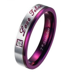 KONOV Jewelry Men's Women's Stainless Steel Love Promise Ring Couples Wedding Bands $4.99