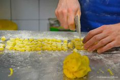 "Gluten-free gnocchi in the making, made with rice, potato and corn flour - ""Mouth-watering Modena: a cooking class in Italy"" by @Tricia Mitchell"