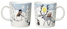 Moomin Christmas Season Mug Winter Forest Arabia Finland 2012 Tove Jansson, Scandinavian Christmas, Winter Time, Christmas Traditions, Finland, Coffee Cups, Objects, Seasons, Folklore