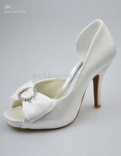 Wholesale Elegant Silk - Buy Elegant Silk And Satin Bow Decorated Peep Toe High Heels Wedding Shoes #u6-1jSO, $72.68 | DHgate