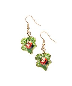 Look what I found on #zulily! Frankie & Stein Green Ladybug Drop Earrings by Frankie & Stein #zulilyfinds