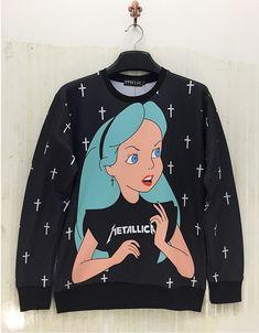 2015 Herbie punk bat norton Cross Alice Galaxy Crucifixion women/men metallica hoodies 3D printing creative black Harajuku