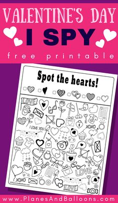 Free printable Valentine's day I spy activity for kids. - Free printable Valentine's day I spy activity for kids. Free Valentines day worksheets for presch - Valentines Day Activities, Valentines Day Gifts For Him, Valentine Day Crafts, Activities For Kids, Printable Valentine, Valentines Crafts For Kindergarten, Valentines Day Crafts For Preschoolers, Valentine Party, Arts And Crafts For Adults
