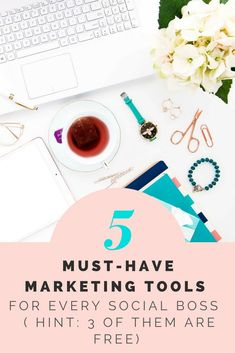 5 must have marketing tools- Free marketing tools for your social media marketing. Grow online with these 5 must have marketing tools.