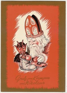 Perhaps the modern idea of Santa's Elves evolved from a softening of Krampus legends?