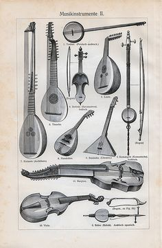 Antique stringed instruments