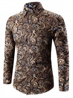 cdcf47c24f9 Photo Gallery - Paisley Print Turn-Down Collar Shirt. Adelina Chetan ·  CAMISA