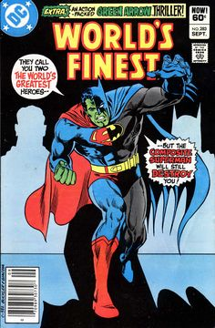 World's Finest #283, september 1982, cover by Rich Buckler and Frank Giacoia.