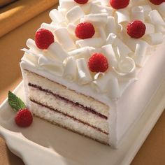 White Chocolate Cake with Raspberry