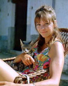 "Anna Karina and cat""...."