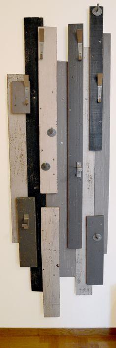 DIY scrap-wood Coat rack