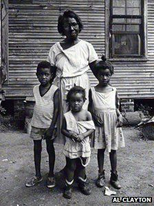 Mississippi Delta 1960's    In the 1960s, the houses were inhabited by single mothers struggling to feed their children.   (A photograph by Al Clayton)