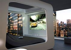 This all-in-one bed and entertainment center has a pull-down projection screen, integrated gaming system, built-in lights, and even a control panel that allows you to control your home's window shades and lighting. The price tag of 42,000 Euro puts this amazing piece of furniture firmly in daydream territory for most.