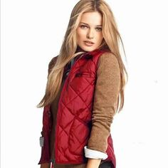 Red winter vest... Love