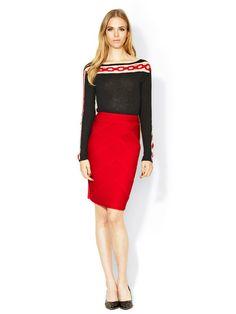 Pintucked Ponti Skirt by Catherine Malandrino on Gilt.com