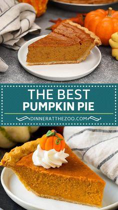 Easy Pie Recipes, Sweet Recipes, Baking Recipes, Dessert Recipes, Best Pumpkin Pie Recipe, Pumpkin Pie Recipe With Canned Pumpkin, Sweets, Recipes, Cookie Recipes