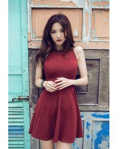 a74d1983858 New arrivals 2016 women dresses summer dress fashion sexy red black gray o  collar sleeveless mini brief ladies dresses