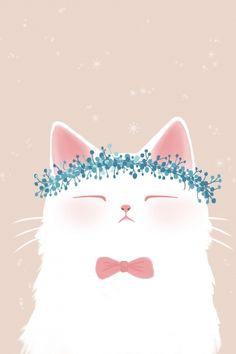Wallpaper Gatos, Cat Wallpaper, Kawaii Cat, Prints For Sale, Cat Art, Cute Cats, Illustration Art, Cute Animal Illustration, How To Draw Hands