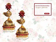 Get this Designer Jhumkas at best price.... Buy at link:http://bit.ly/1StpDpj