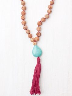 Our #turquoise journey mala believed to save the wearer from any problems on a journey or adventure. Turquoise is also believed to destroy hatred and increase #love. $72.00 Get it [HERE]: http://shop.malaimports.ca/collections/turquoise/products/journey-mala#tab2