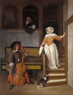 Gabriel Metsu, The Cello Player, c.1658