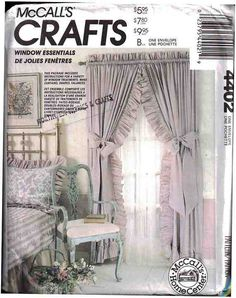 McCall's Sewing Pattern 4402 Window Treatments Uncut