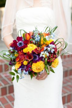 yellow mums and red anemone bridal bouquet 14 Fall Inspired Wedding Bouquets Orange Blossom Bride | Orlando Wedding Blog #orlandoweddingflorist Anemone Bridal Bouquet, Bridal Bouquet Fall, Bridal Bouquets, Wedding Blog, Fall Wedding, Wedding Ideas, Autumn Inspiration, Wedding Inspiration, Red Anemone