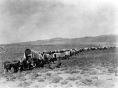 The 1842 Great Emigration begins. The first of 3 wagon trains of settlers and cattle set off down the Oregon Trail. stating that some made the journey through Idaho even earlier. Pioneer Foods, Pioneer Life, Us History, American History, History Pics, History Images, Asian History, Strange History, Tudor History