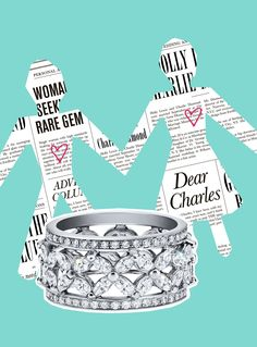 Tiffany Victoria® band ring in platinum with diamonds.
