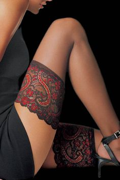 Le Bourget Essential Hold Ups - Mayfair Stockings.