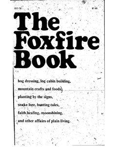 1st Foxfire Book