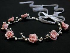 Bloemen diadeem van Lola White op DaWanda.com