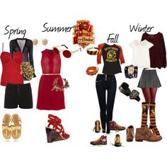 """Gryffindor Inspired Outfit"" by shana-askew on Polyvore"